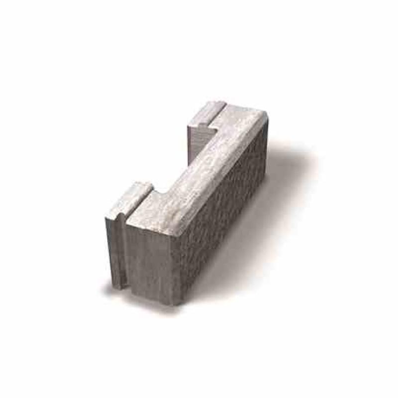 Benders Megaloc dvipusės atraminės sienėlės standartinis blokas 400x130x150 (Spalva - pilka)