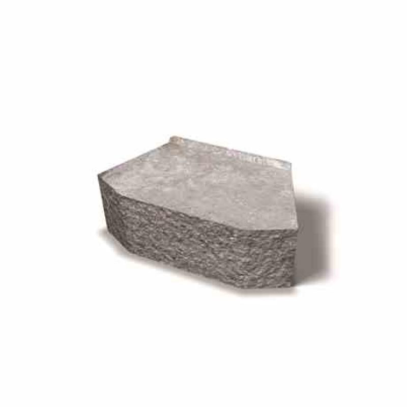Benders Megastone užapvalintai skeltas atraminės sienėlės blokas 385x220x150 (Spalva - pilka)