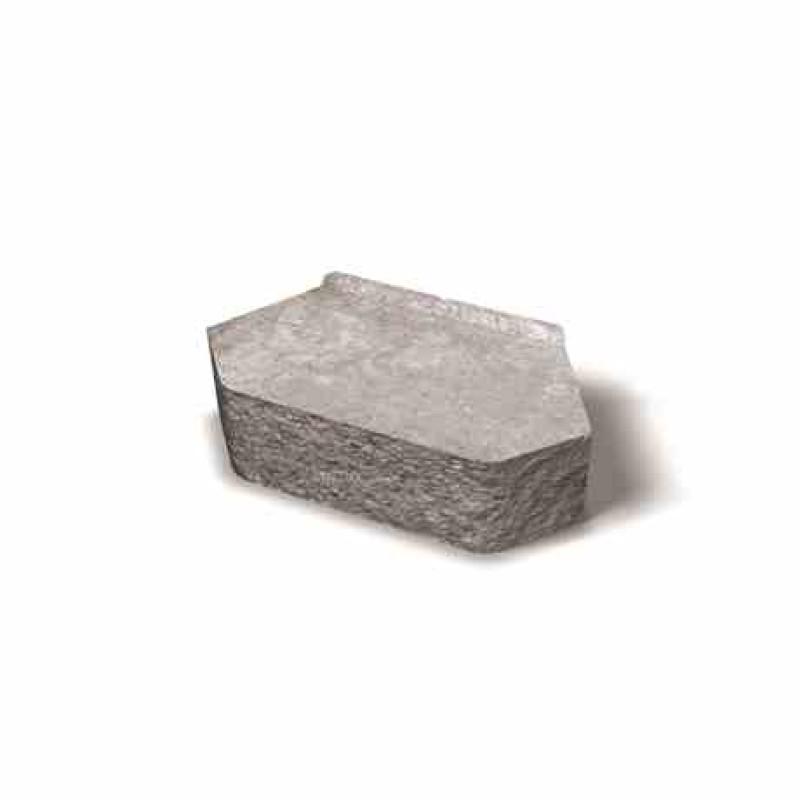 Benders Megastone užapvalintai skeltas atraminės sienėlės blokas 360x200x100 (Spalva - pilka)