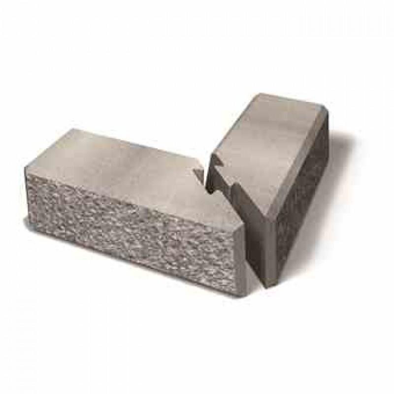 Benders kampinis atraminės sienėlės blokas Norblock šiurkštus 550x260x170 (Spalva - pilka marga)