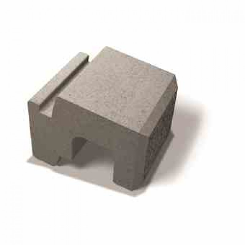 Benders atraminės sienėlės blokas Norblock šiurkštus 250x280x170 (Spalva - pilka marga)