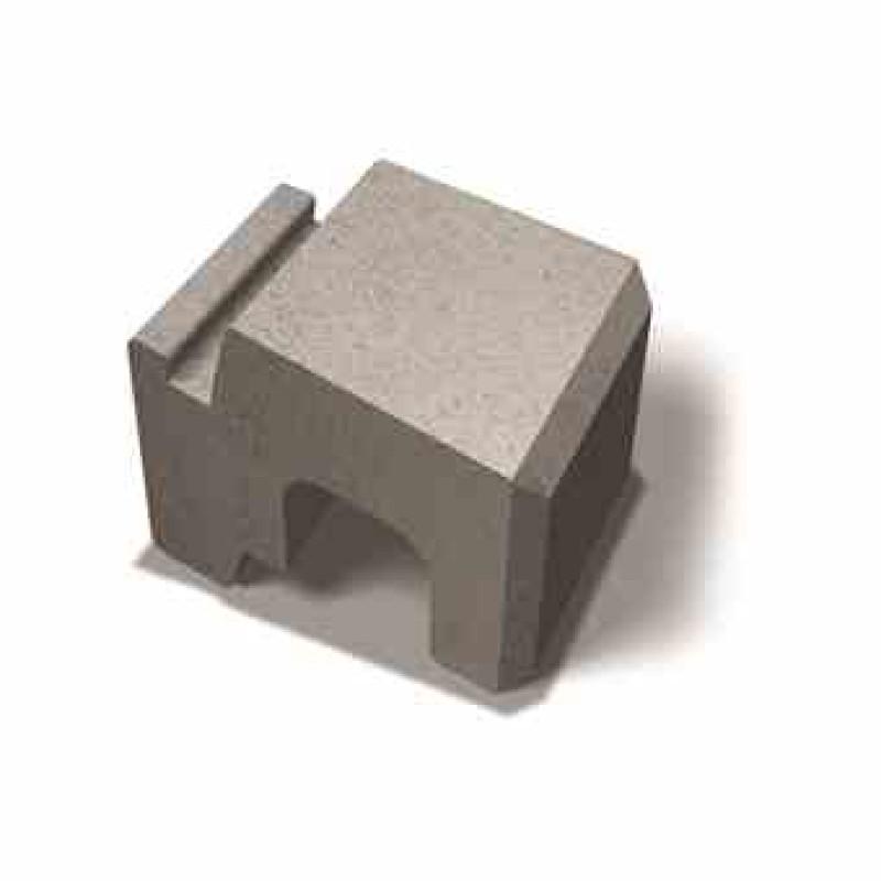 Benders lenktas atraminės sienėlės blokas Norblock Mini lygus 250x280x170 (Spalva - pilka)