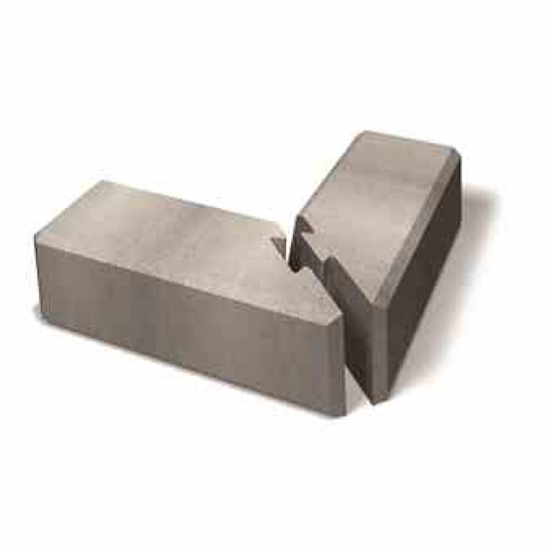 Benders kampinis atraminės sienėlės blokas Norblock Mini lygus 550x260x170 (Spalva - pilka)