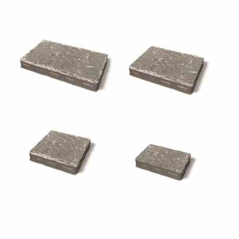 Benders skirtingų matmenų betoninių trinkelių komplektas Orlando Multisize Antik 60mm (Spalva - grafito)