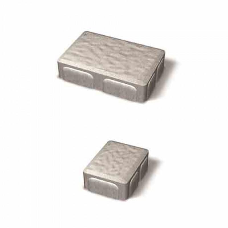 Benders skirtingų matmenų betoninių trinkelių komplektas Rustik (Spalva - grafito)