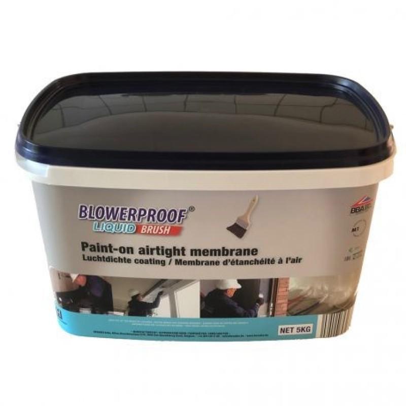 Tepama polimerinė mastika pastato konstrukcijų sandarinimui BLOWERPROOF BRUSH 5,0kg (balta)