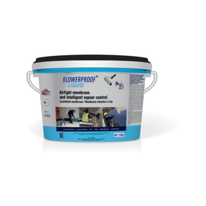 Pučiama polimerinė mastika pastato konstrukcijų sandarinimui BLOWERPROOF LIQUID 10,0kg (balta)