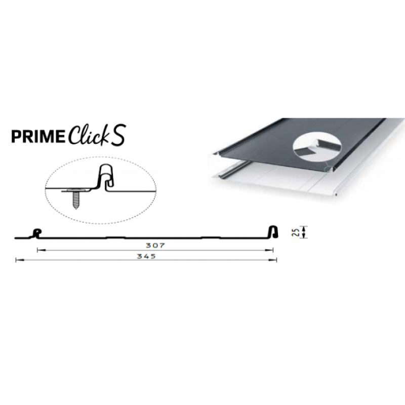 Klasikinė stogo danga Prime Click S
