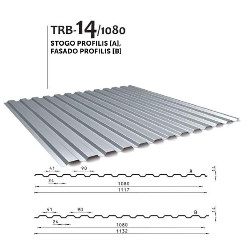 Trapecinis profilis TRB 14/1080
