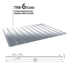 Trapecinis profilis TRB6/1200 fasadinis