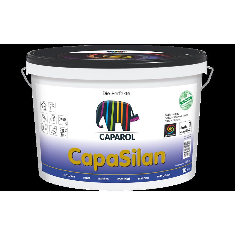 Vidaus sienų ir lubų dažai silikoninės dervos pagrindu CAPAROL CapaSilan 10,0l
