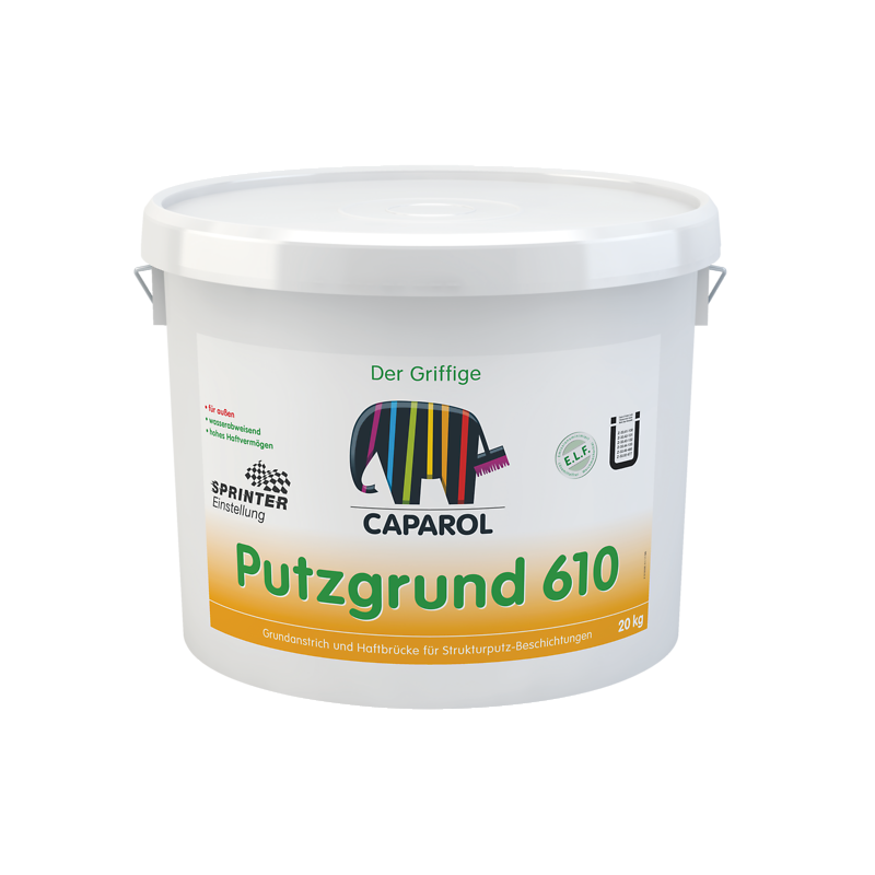 Gruntas su kvarciniu užpildu vidui ir išorei Capatect Putzgrund 610 Weiss PL 25.0kg