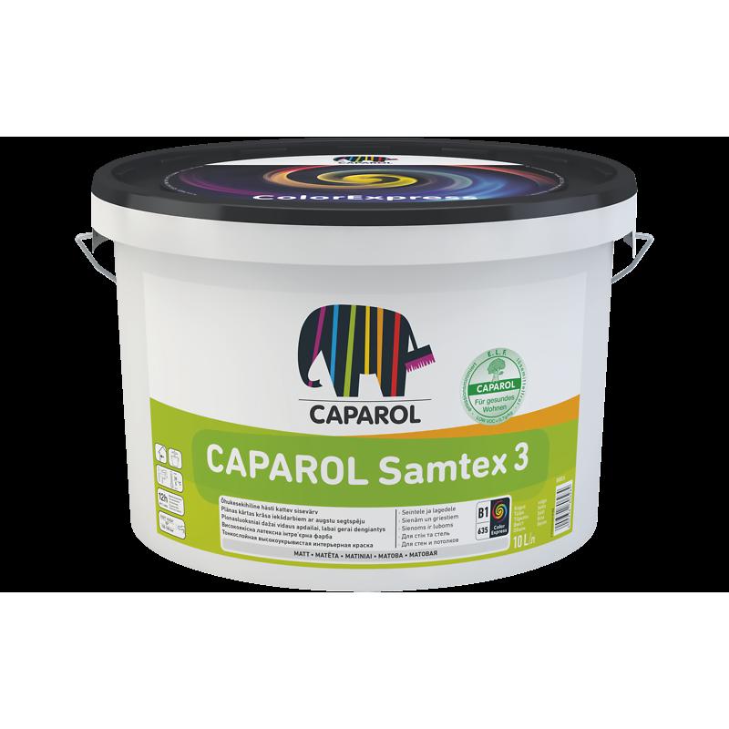 Matiniai, šlapiam trynimui atsparūs lateksiniai vidaus dažai CAPAROL Samtex 3 E.L.F. 2,5l