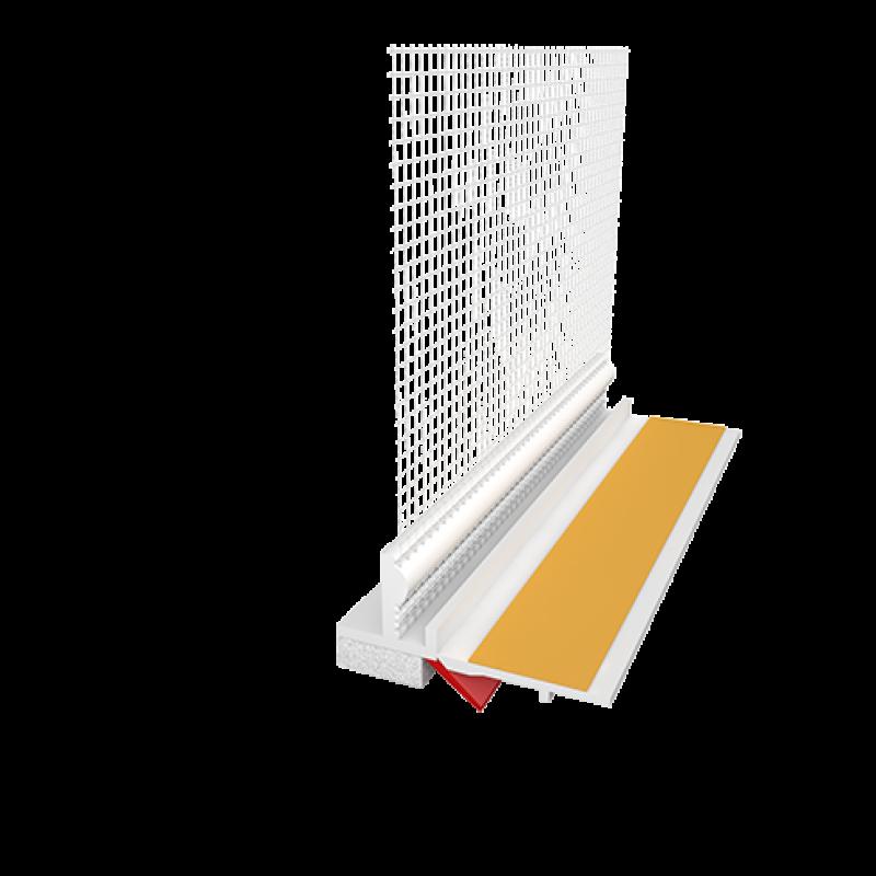 Ejot PVC deformacinis profilis GAP09/02L su tinkleliu ir deformacine juostele (108 Plus Gumi) 2,4m