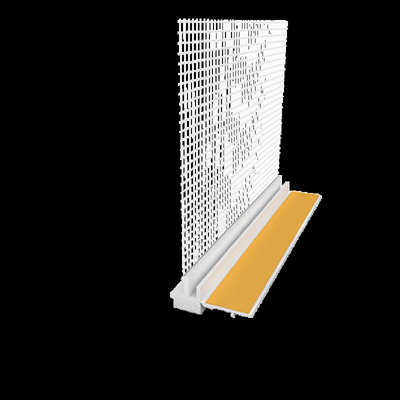 Ejot PVC deformacinis profilis 108 Plus su tinkleliu, plotis 9mm, tinklelis 8cm 2,4m