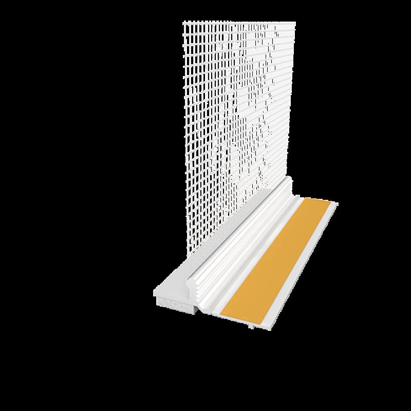 Ejot PVC deformacinis profilis 120 Plus su tinkleliu, plotis 6/15mm, tinklelis 8cm 2,4m