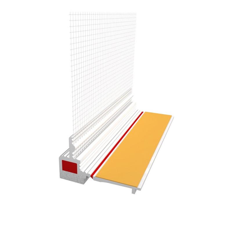 Ejot PVC deformacinis profilis 3D PROFI su deformacine juostele ir gumine tarpine, plotis 9mm 2,4m