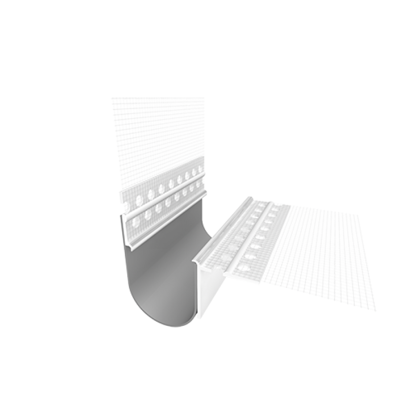 Ejot PVC Profilis 420V 2,0m (deformacinių siūlių profilis kampui)