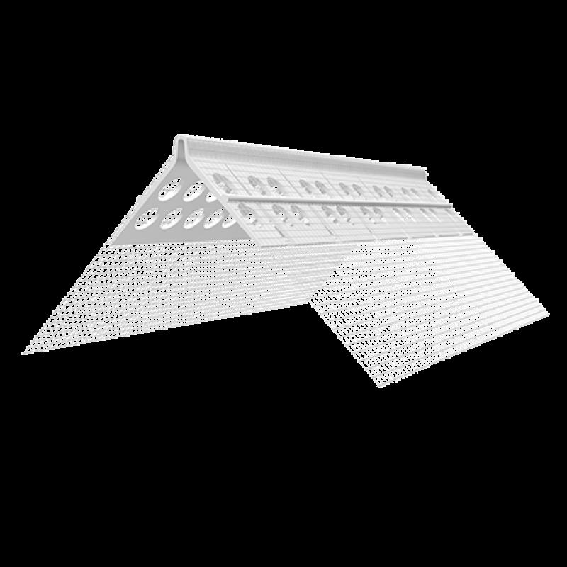 Ejot arkinis kampinis PVC profilis su tinkleliu 100x150mm 2,5m