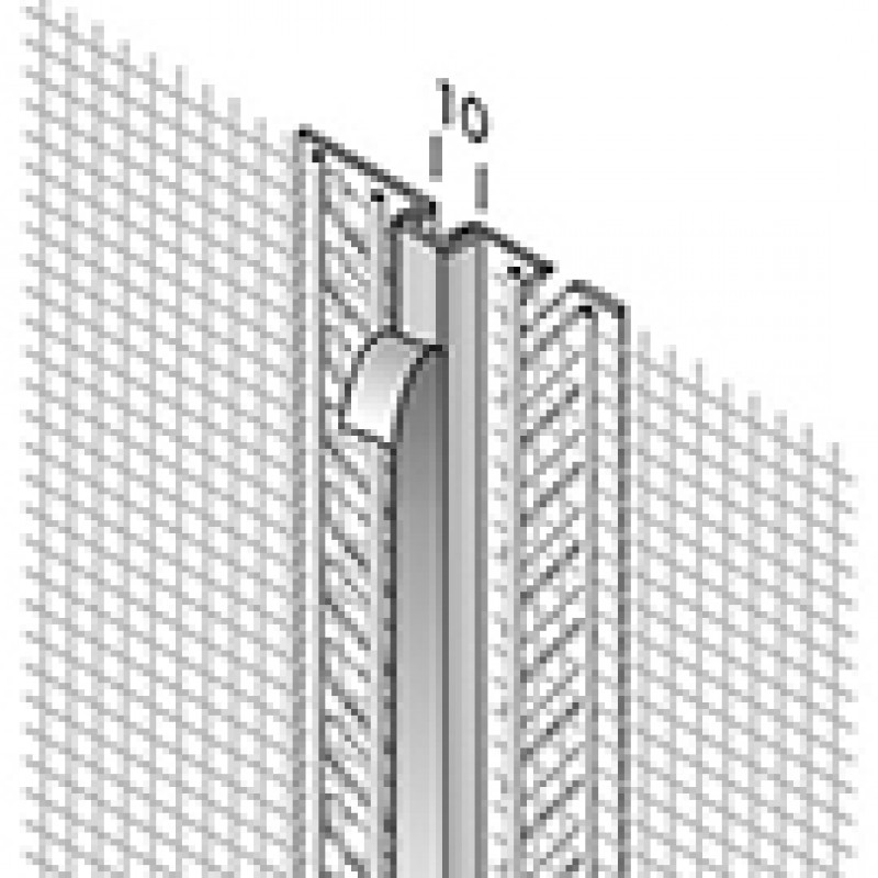 Ejot PVC Profilis 430 2,0m (mažų apkrovų deformacinių siūlių profilis)