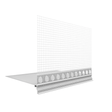 Ejot PVC cokolinis jungiamasis profilis su tinkleliu Praktika 120mm pločio 2,0m