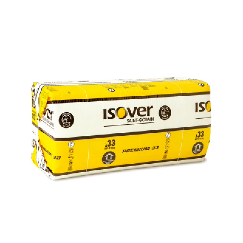 Mineralinė vata Isover Premiuim 33 100 mm storio, universali