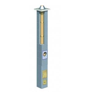 Schiedel Absolut viengubas kaminas su ventiliacijos kanalu 140+V mm