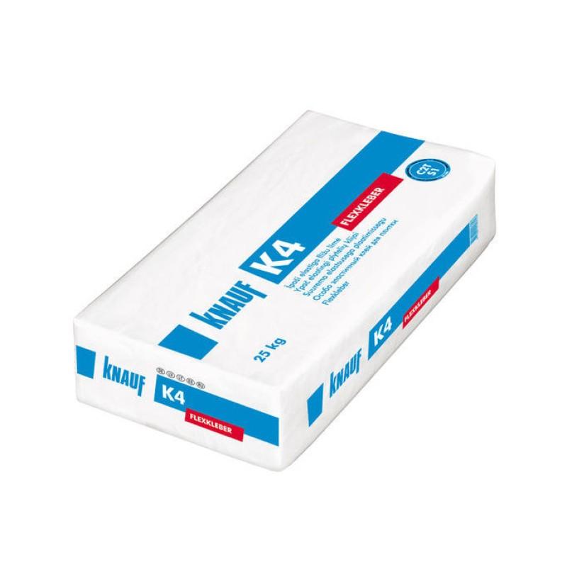 Ypač elastingi plytelių klijai Knauf K4 25,0kg