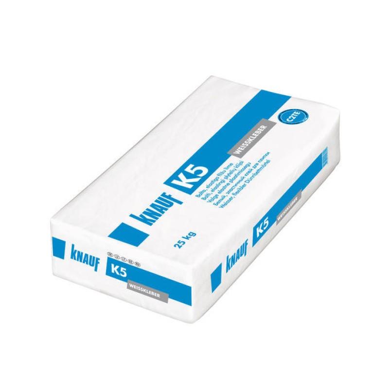 Balti elastingi plytelių klijai Knauf K5 25,0kg