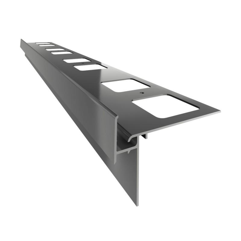 Renoplast terasų ir balkonų užbaigimo profilis su drenažu kereminių plytelių gindų dangai K35