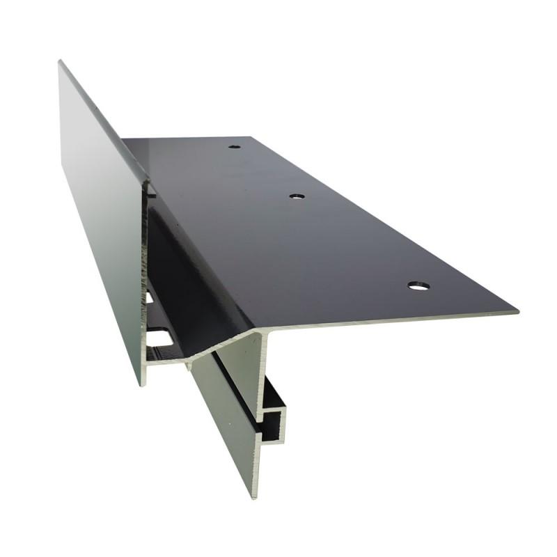 Renoplast terasų ir balkonų užbaigimo profilis ventiliuojamai akmens masės, storų keraminių plytelių ar betono grindų dangai K60