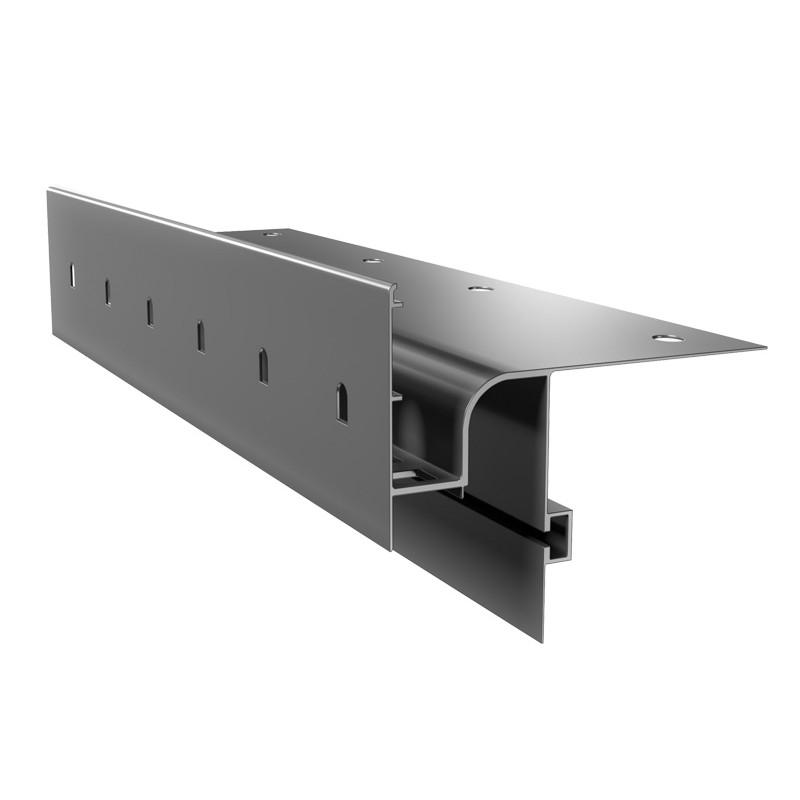 Renoplast terasų ir balkonų užbaigimo profilis ventiliuojamai akmens masės, storų keraminių plytelių ar betono grindų dangai W30R