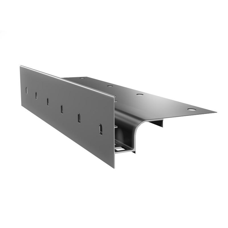 Renoplast terasų ir balkonų užbaigimo profilis ventiliuojamai akmens masės, storų keraminių plytelių ar betono grindų dangai W30