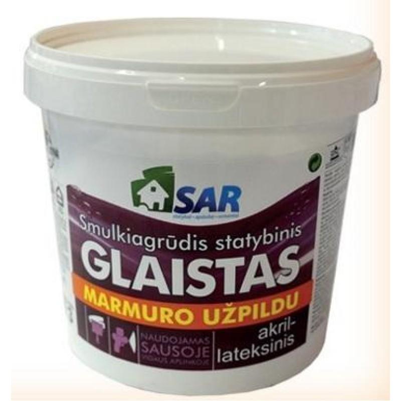 Smulkiagrūdis akril-lateksinis glaistas su marmuro užpildu SAR 16,0kg
