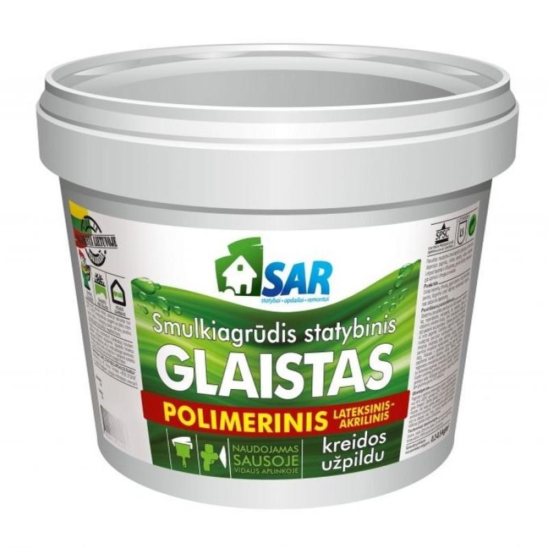 Smulkiagrūdis polimerinis-lateksinis glaistas su kreidos užpildu SAR 16,0kg