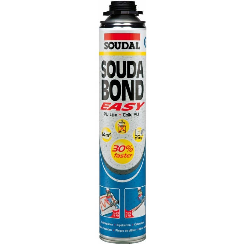Termoizoliacinių medžiagų ir gipso klijai poliuretano pagrindu Soudal Soudabond Easy GUN
