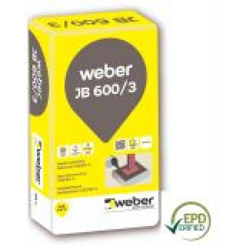 Nesitraukiantis betonas Weber JB 600/3 25,0kg