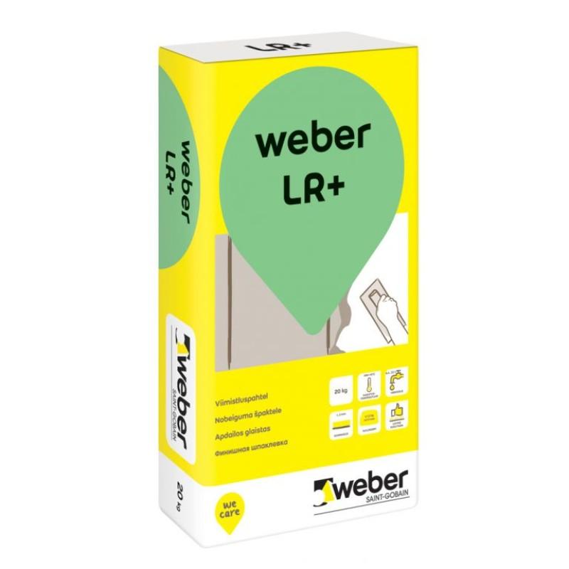 Polimerinis glaistas sienoms ir luboms Weber Vetonit LR+ 20,0kg