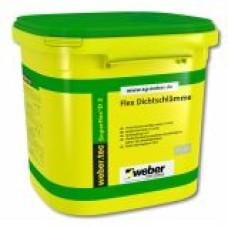 Dvikomponentė labai elastinga cementinė hidroizoliacija Weber Tec Superflex 2D 24,0kg