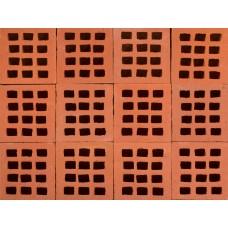 Aseri ažūrinės klinkerinės grindnio trinkelės SAT raudona 240x170x70